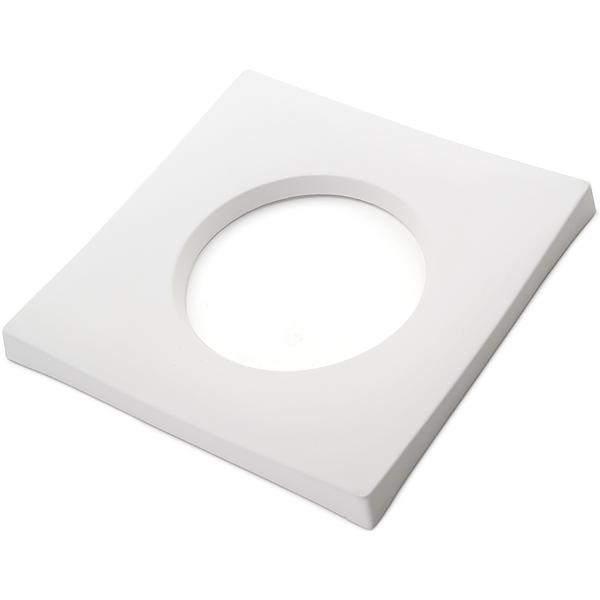 Drop Out Square - 25x25x2.3cm - Ouverture: 15x1.3cm - Moule pour Fusing