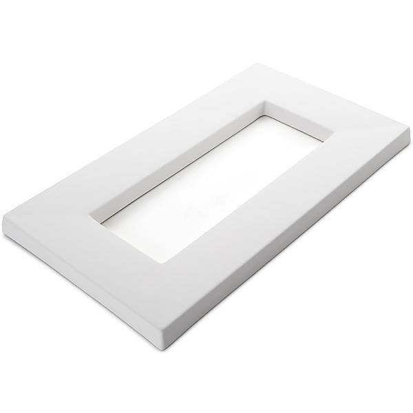 Drop Out Rectangular - 41.1x23.6x2.2cm - Ouverture: 28.5x10.5cm - Moule pour Fusing