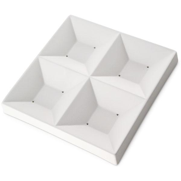 Sushi Four Squares - 17x17x2.2cm - Öffnung: 8.5x2cm - Fusing Form