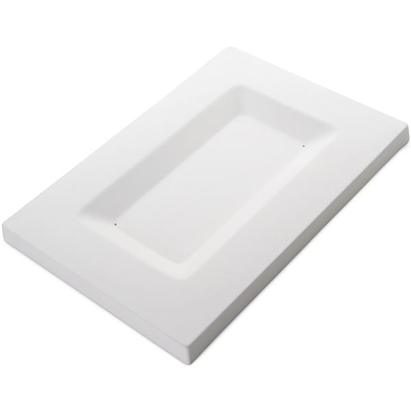 Soft Edge Rectangular Platter - 35.2x24x2.2cm - Basis: 25.2x13.5x1.5cm - Fusing Form