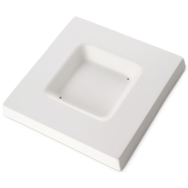 Soft Edge Square Platter - 15.6x15.6x1.8cm - Basis: 8x8x1.8cm - Fusing Form