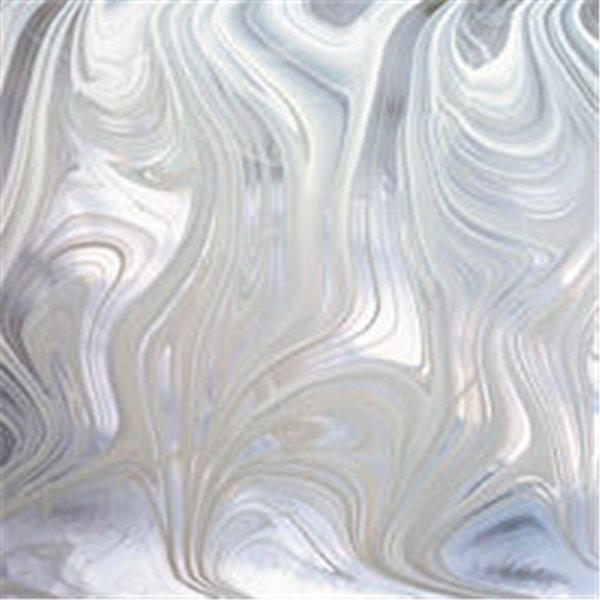 Spectrum White Clear Baroque - 3mm - Non-Fusing Glas Tafeln