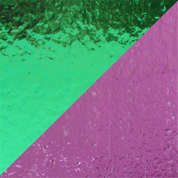 Dichroic - Teal/Light Pink - Auf Klarglas - Dünn - 2mm