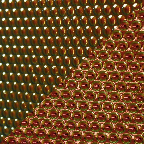 Dichroic - Cyan/Copper - Radium - Auf Schwarz - 3mm