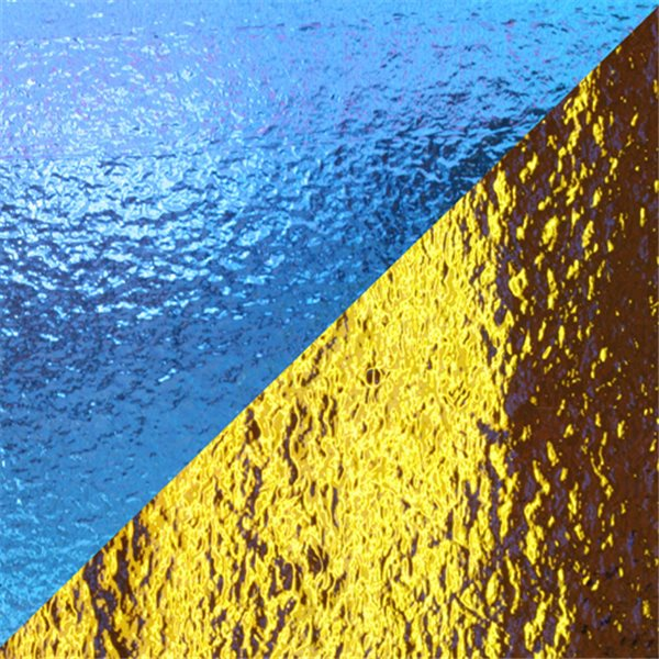 Dichroic - Blue/Yellow - Auf Klarglas - Dünn - 2mm