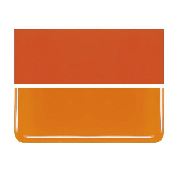 Bullseye Apricot Orange - Opaleszent - 3mm - Fusing Glas Tafeln