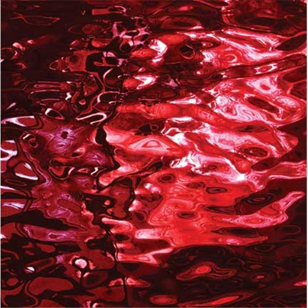 Spectrum Cherry Red - Waterglass Silver Coat - 3mm - Non-Fusing Glas Tafeln