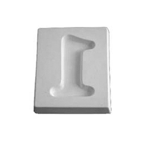 Number 1 - 12.1x10.1x1.9cm - Ouverture: 9.3x5.8cm - Moule pour Fusing