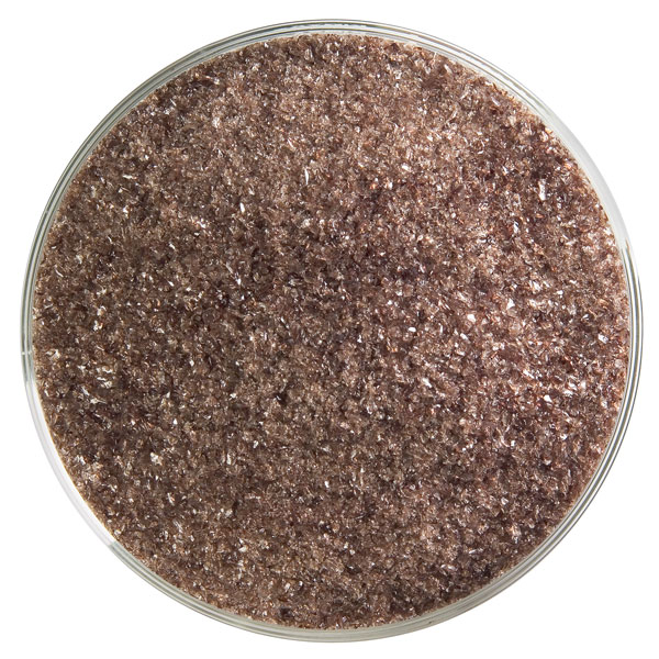 Bullseye Frit - Dark Rose Brown - Fein - 2.25kg - Transparent