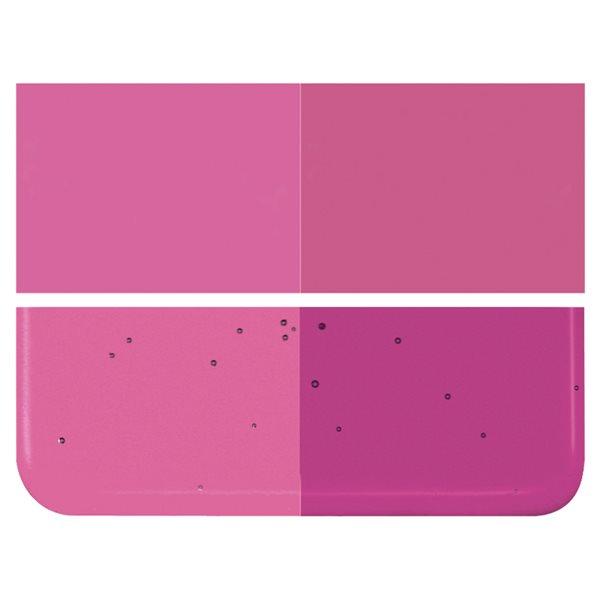 Bullseye Light Fuchsia - Transparent - 3mm - Fusing Glas Tafeln