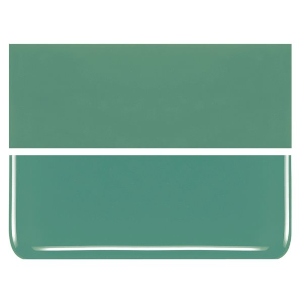 Bullseye Mineral Green - Opalescent - 2mm - Thin Rolled - Fusing Glas Tafeln