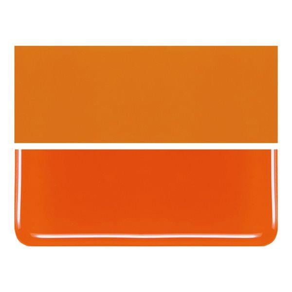 Bullseye Khaki Orange - Opalescent - 2mm - Thin Rolled - Fusing Glas Tafeln