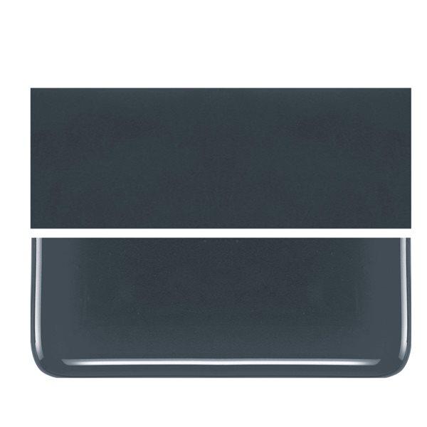 Bullseye Deep Gray - Opalescent - 2mm - Thin Rolled - Fusing Glas Tafeln