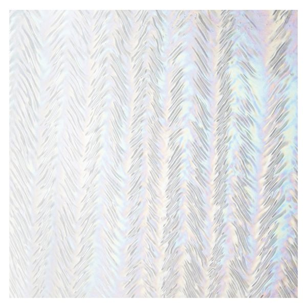 Bullseye Clear  - Transparent - Herringbone Ripple Irid - 3mm - Plaque Fusing