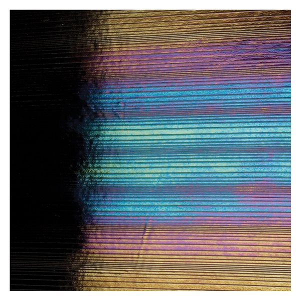 Bullseye Black - Opalescent - Accordion Irid - 3mm - Fusing Glas Tafeln