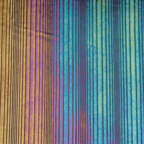 Bullseye Black - Opalescent - Accordion Irid - 2mm - Thin Rolled - Fusing Glas Tafeln