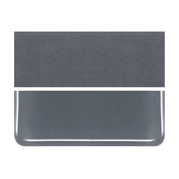 Bullseye Slate Gray - Opalescent - 2mm - Thin Rolled - Fusing Glas Tafeln