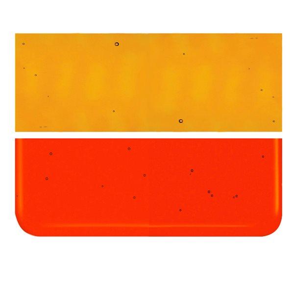 Bullseye Red-Orange - Transparent - 2mm - Thin Rolled - Plaque Fusing