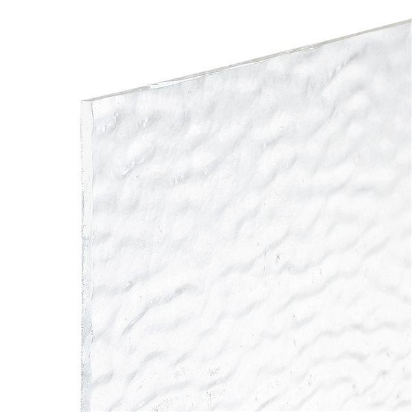 Bullseye Clear - Transparent - Soft Ripple - 3mm - Plaque Fusing