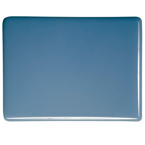 Bullseye Dusty Blue - Opalescent - 2mm - Thin Rolled - Plaque Fusing