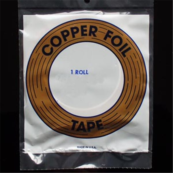 "Kupferfolie - Edco - 1/4"" - 6.4mm - Schwarz"