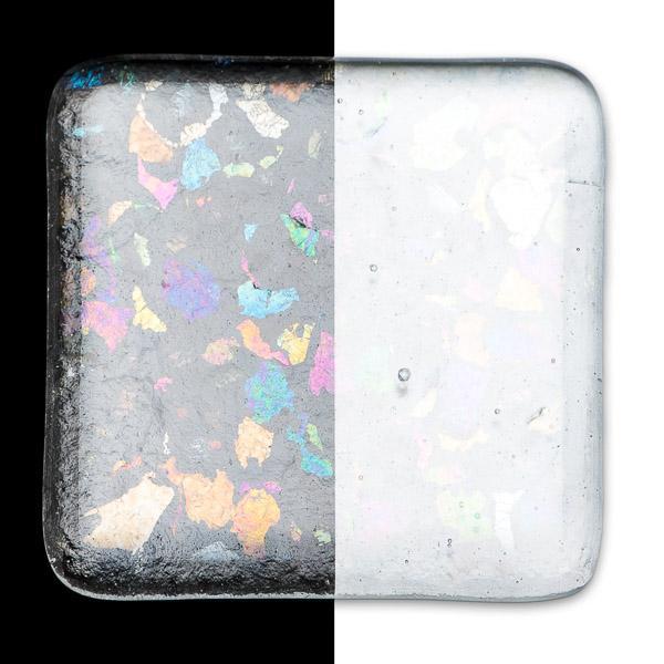 Bullseye Frit - Clear Irid Rainbow - Extra Grob - 450g - Transparent