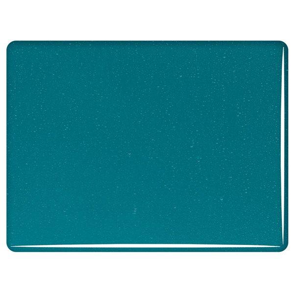 Bullseye Peacock Blue - Transparent - 3mm - Plaque Fusing