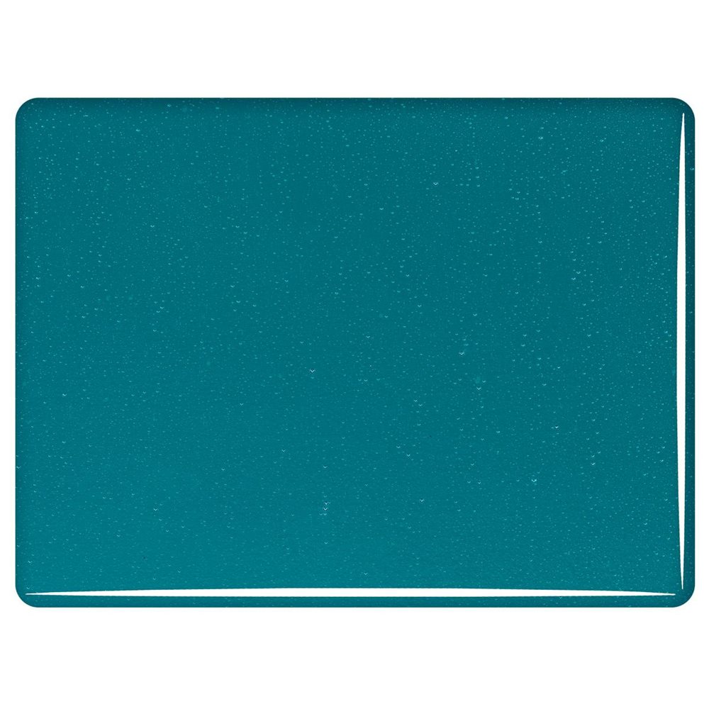 Bullseye Peacock Blue - Transparent - 3mm - Fusing Glas Tafeln