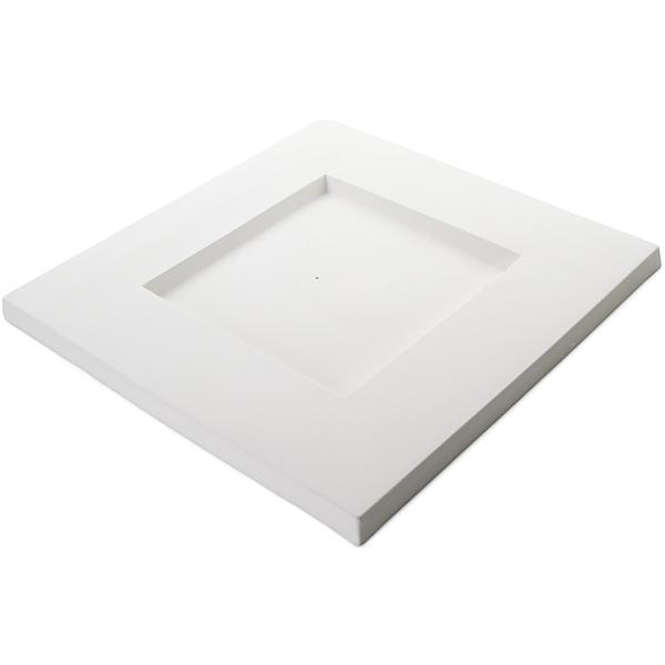 Square Platter - 37.4x37.5x2cm - Basis: 19.8cm - Fusing Form