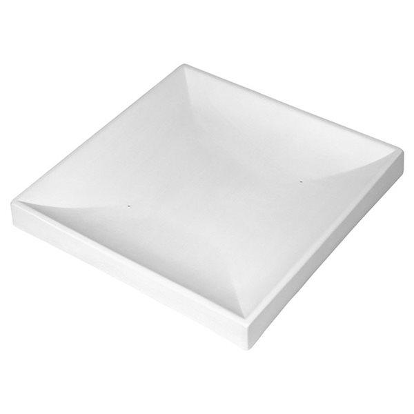 Sloped Square Plate - 13.9x14x2.2cm - Basis: 5.1x5.1cm - Fusing Form